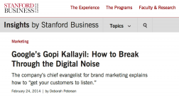 Stanford Business article